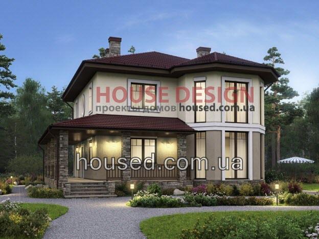 Проект и планировка дома с двумя входами
