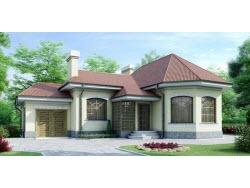 Проект дома № 11521- одноэтажный дом из кирпича